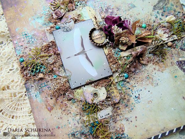 @dashylya_schukina @cutecut.ru #скрапбукинг #панно #ручнаяработа #миксмедиа #scrapbooking #mixedmedia #finnabairproducts #finnabair #craftstory_ru #primamarketinginc #primamarketing #primaflowers