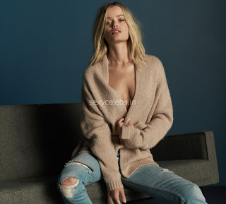 Frida Aasen looks innocent beautiful for Cashmere Campaign Hot Boobs Cleavages Horny babe Frida Aasen