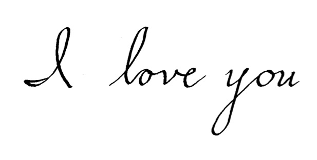 I Love You Cursive Writing Related Keywords & Suggestions ...