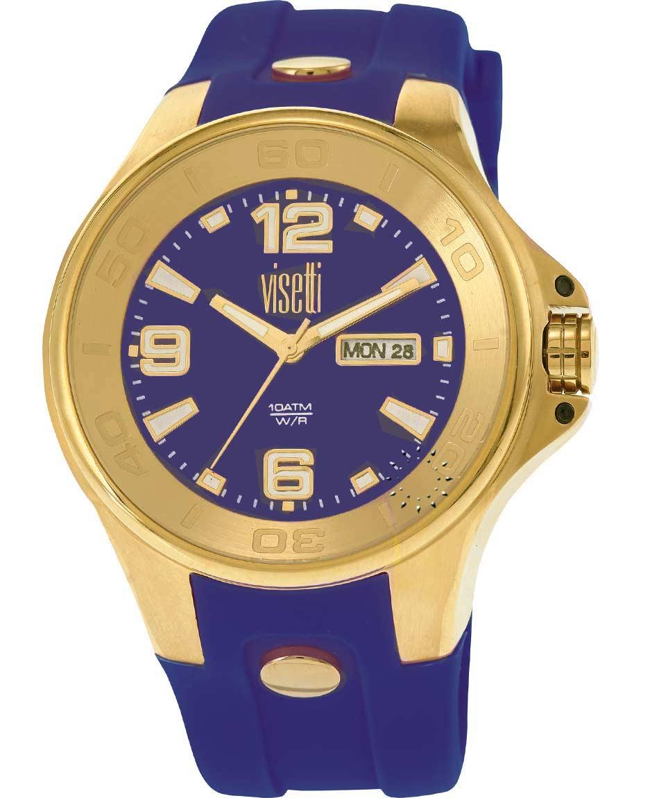 2ad249647a VISETTI Cirquit Gold Dark Purple Rubber Strap Η τιμή μας  109€
