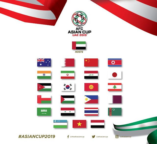 Đã xác định được 24 đội tuyển tham dự VCK Asian Cup 2019