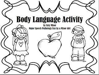 Speechie Freebies: Body Language Freebie!