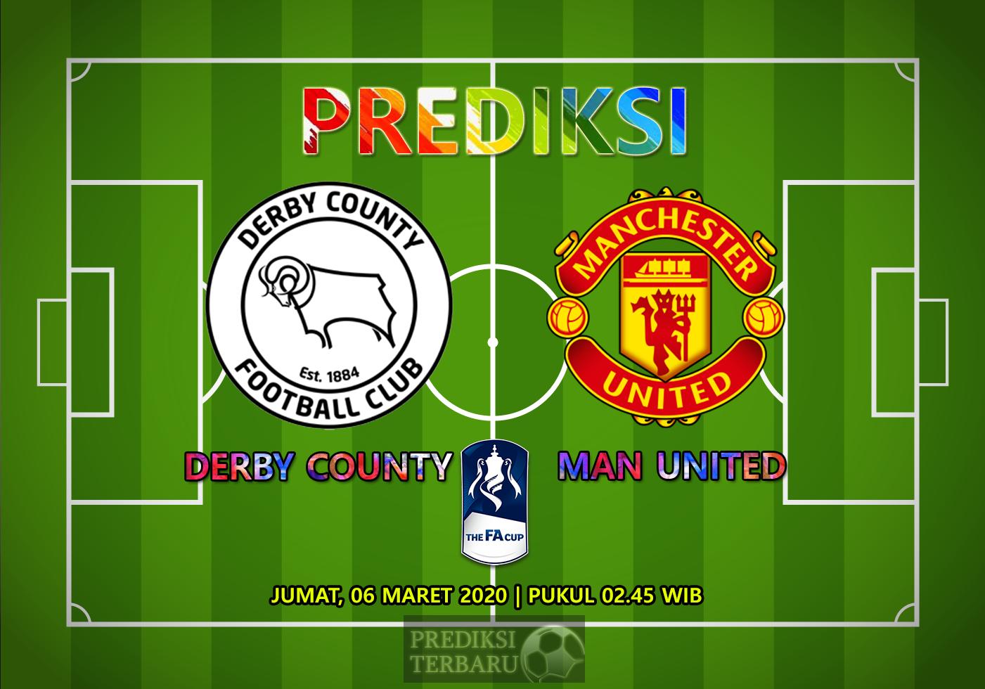 Prediksi Derby County Vs Manchester United Jumat 06 Maret