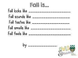 Fall Sensory Poems Owls Lessons Etc