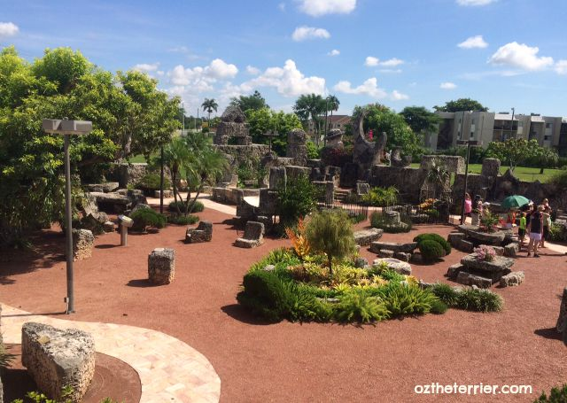 The Coral Castle in Miami, Florida is a dog-friendly attraction