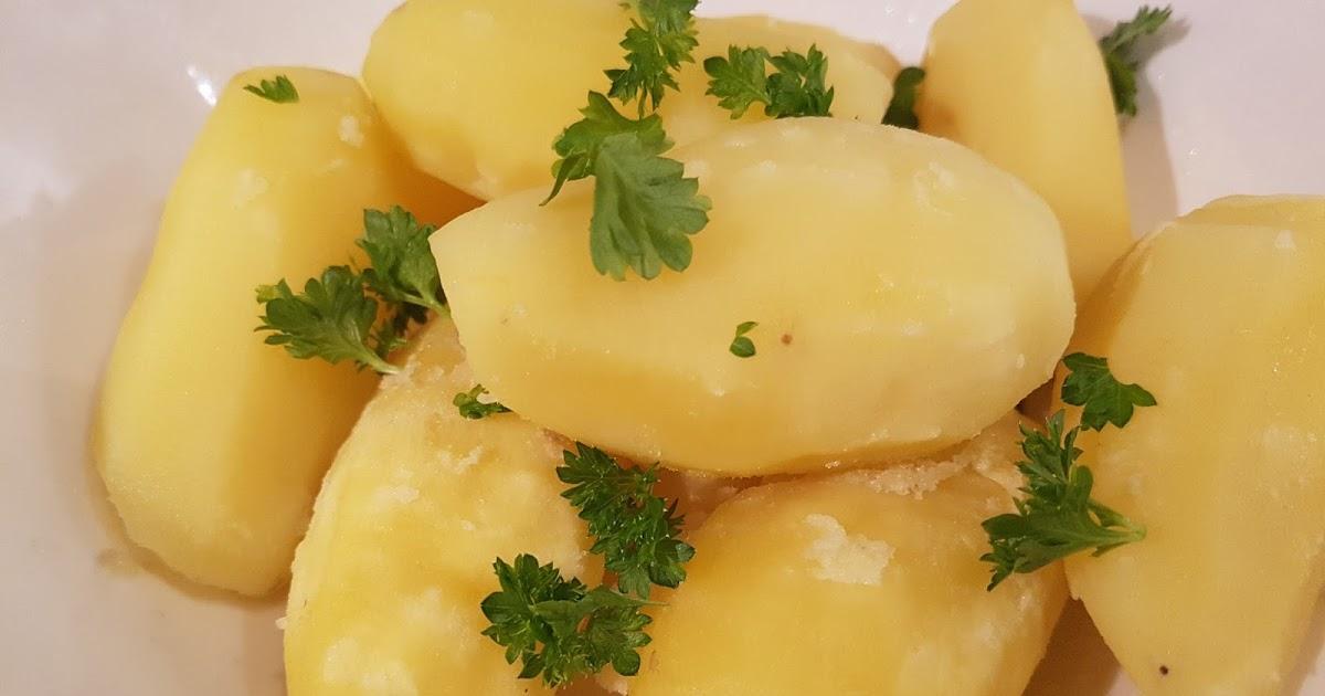 koke mandelpoteter uten skall