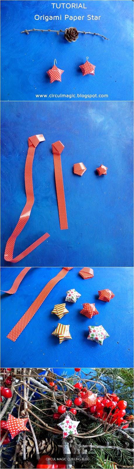 Tutorial Craciun Origami: Stelute de Hartie