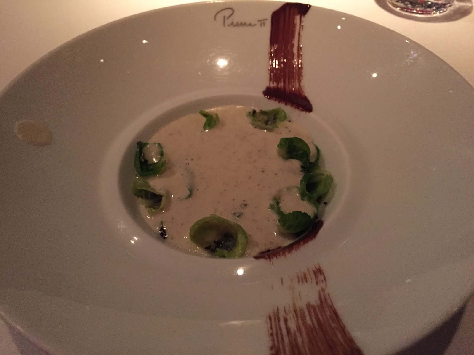 Pierre Mandarin Oriental Hong Kong restaurant french michelin star jerusalem artichoke soup