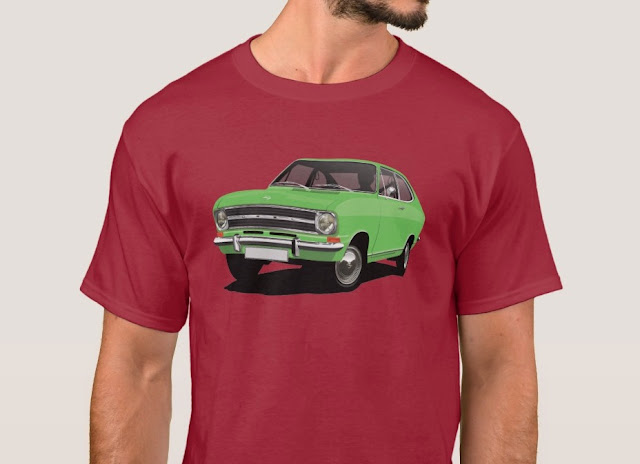 Retro  60's Opel Kadett B Coupé green t-shirt