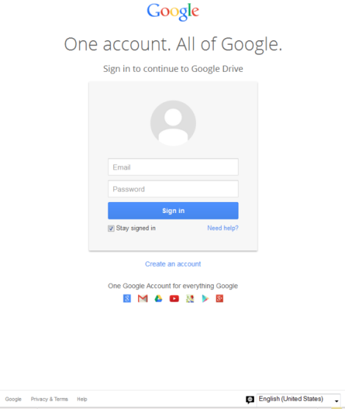 how to create a google drive account for a group