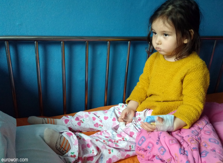 Elsa en un hospital de Corea del Sur