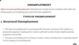 Unemployment - Unemployment in India
