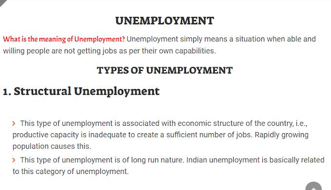 Unemployment - Unemployment in India: Indian Economy