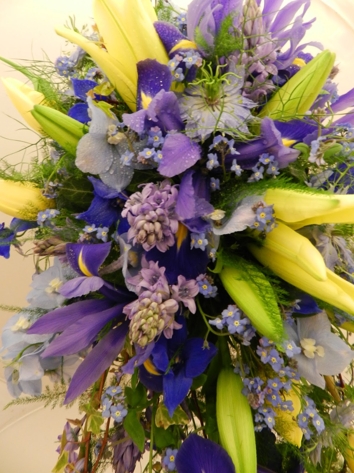 Sandras Flower Studio Blue And Yellow Wedding Flowers