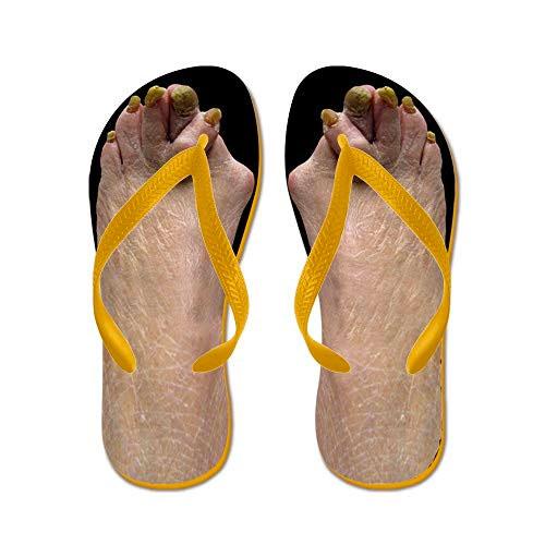 eb8ef7c2e CafePress Ugly Feet Flip Flops