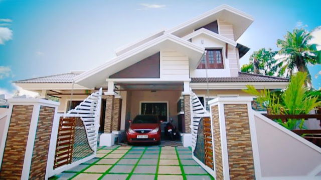 4 bedroom kerala house plans and elevations,  4 bhk duplex villa house plan,