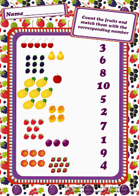 fruits and berries counting worksheet for esl