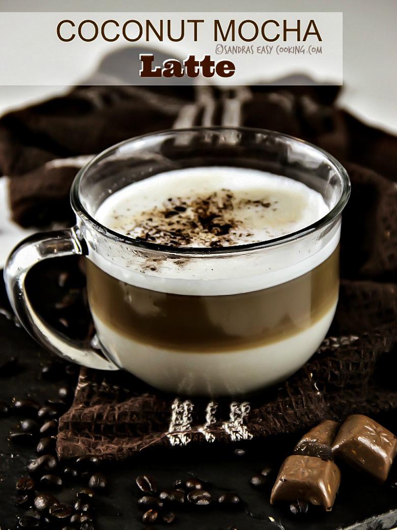 Coconut Mocha Latte #recipe #homemade