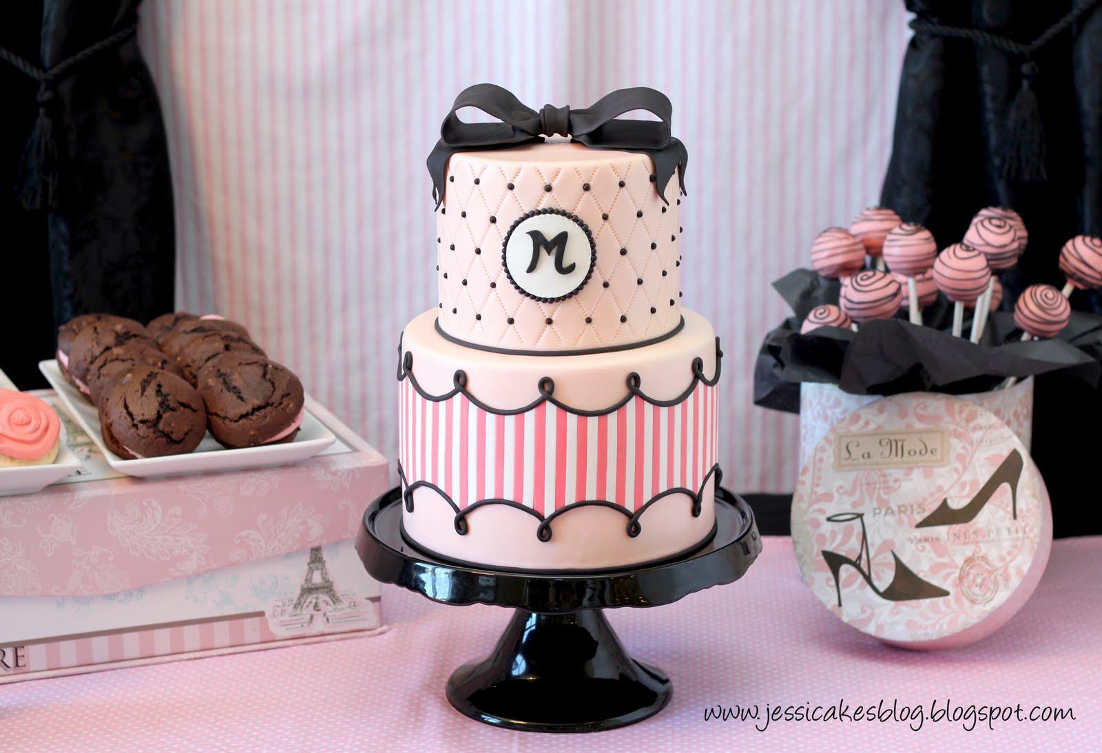 Maddie's Fashion Birthday Cake - Jessica Harris Cake Design