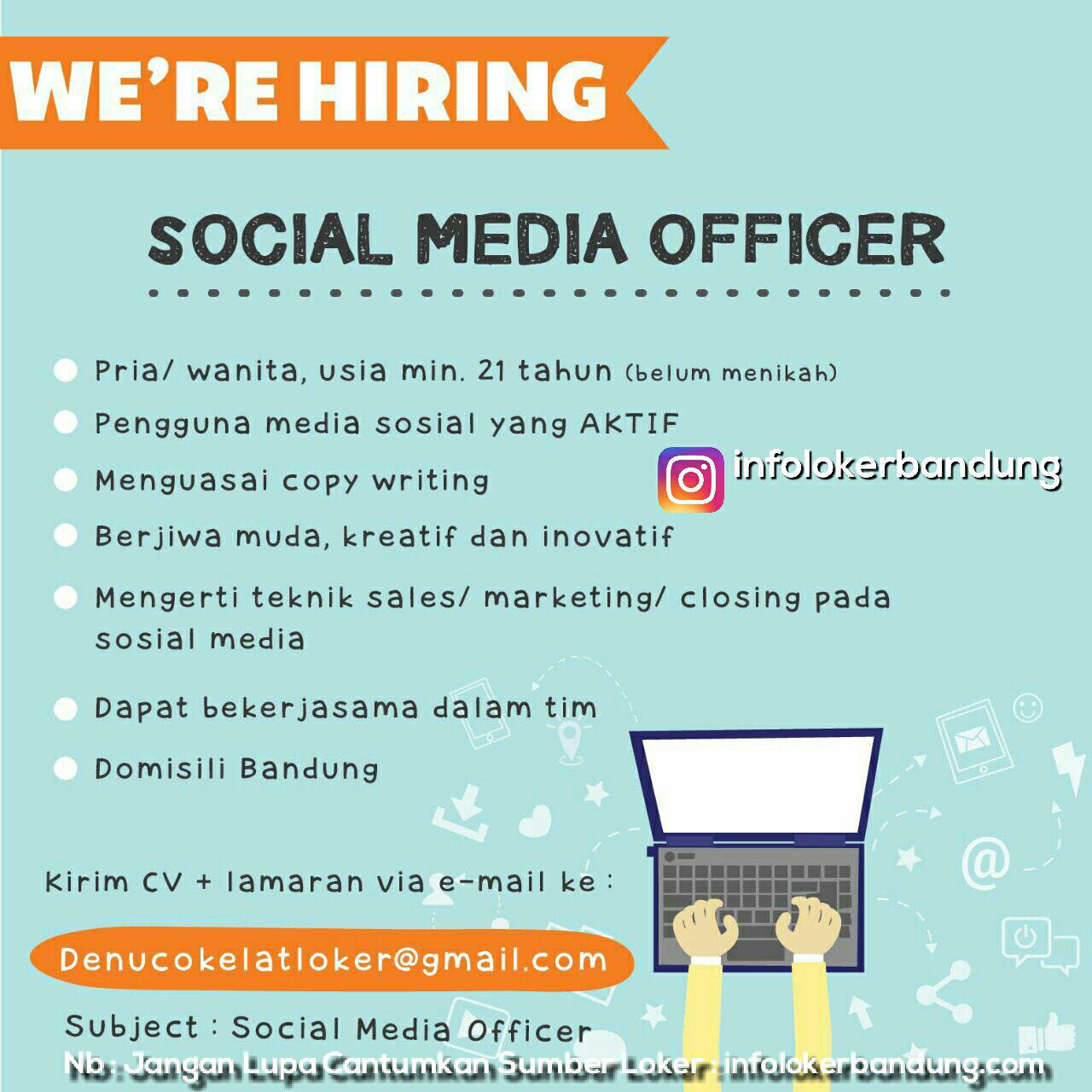 Lowongan Kerja Denu Cokelat Bandung Juli 2017