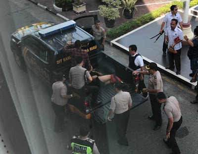 Geger, 4 Orang Terduga Teroris Kembali Menyerang Kantor Mapolda Riau