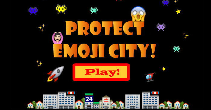 Play Emoji Space Invaders Game