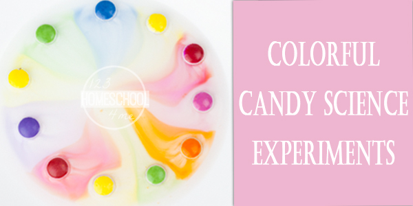 M&M colrful candy science experiment perfect Halloween candy activities for kids