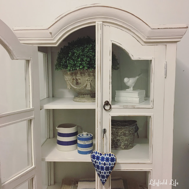 White painted cabinet ASCP Pure White LilyfieldLife