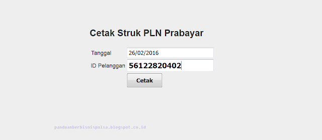 Cara Cetak Struk PLN Prabayar (Token Listrik)