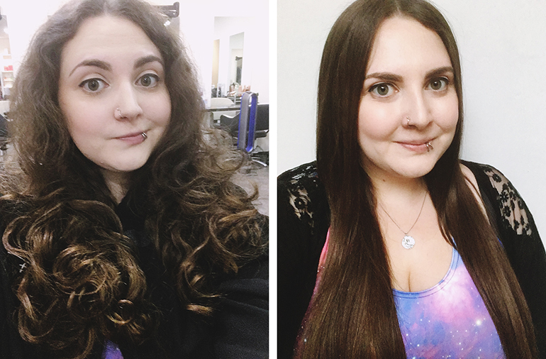 Keratin Treatment Brazilian Blow Dry Before and After