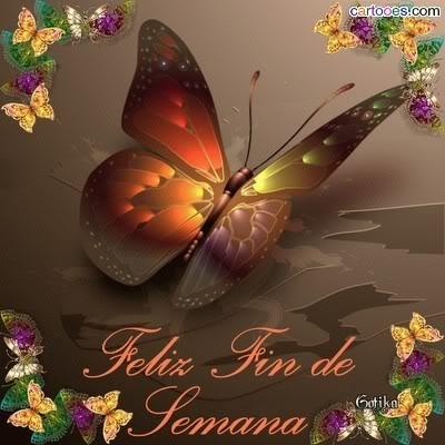 mariposa Feliz Fin de Semana