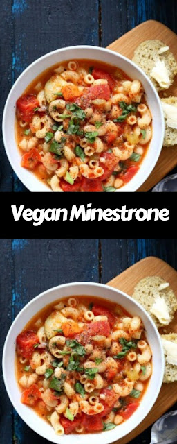 Vegan Minestrone - Veggies Pasta & White Bean Soup