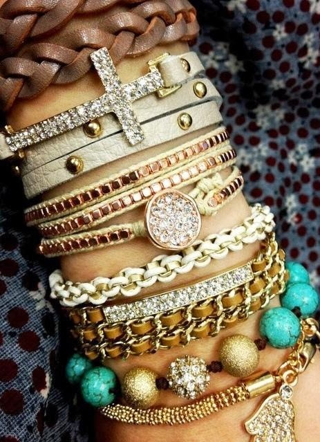 Cool Ways to Stack your Bracelets: Pile Your Wrist Wear Like