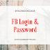 FB login and password