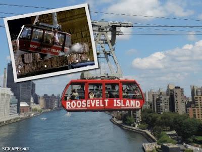 Homem Aranha salvando o bondinho de Roosevelt Island