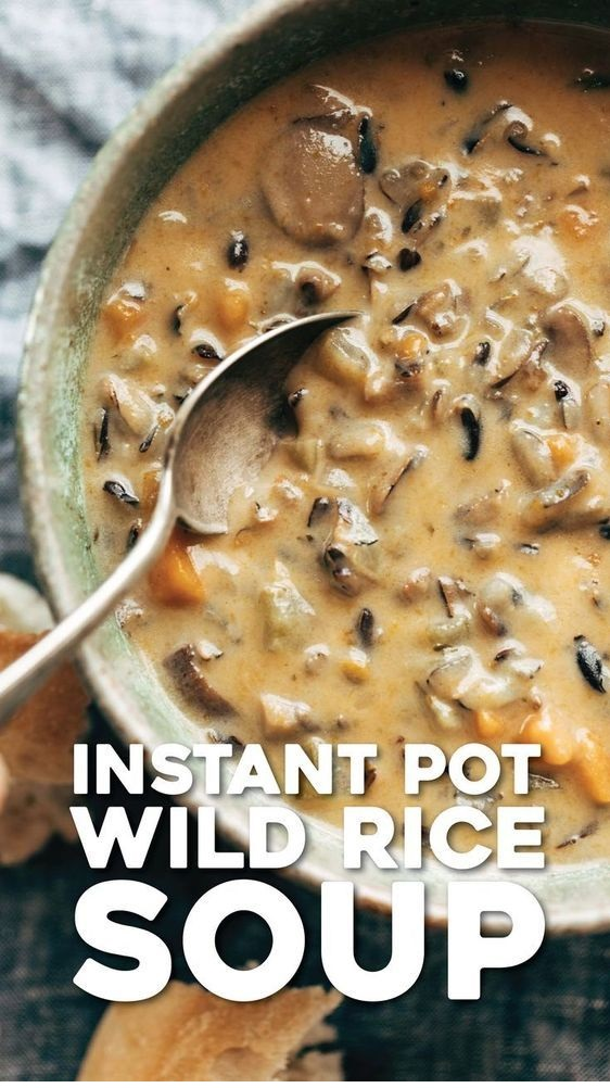 Instant Pot Creamy Mushroom Wild Rice Soup
