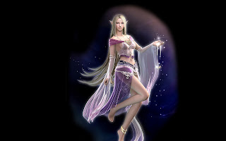 Awesome digital Fantasy girl wallpaper