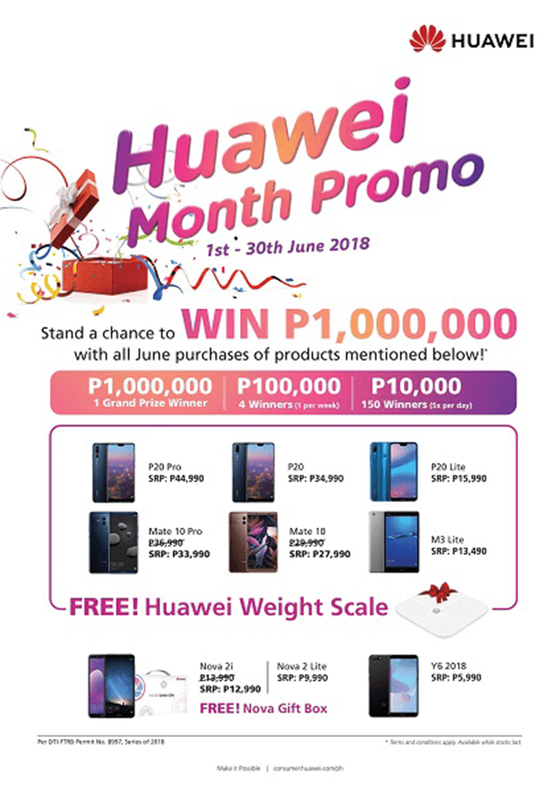 You can be an instant millionaire in this Huawei Month Promo!