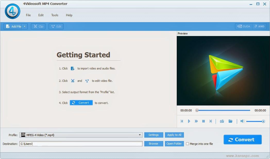 Download 4Videosoft MP4 Converter Crack