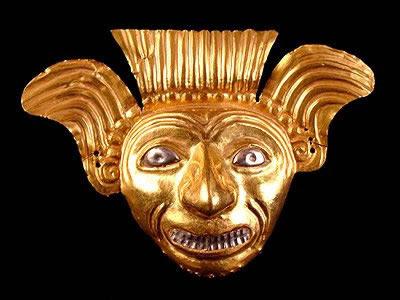 Máscara de oro tumaco tolita