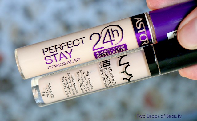 Astor Perfect stay concealer сравнение с nyx HD
