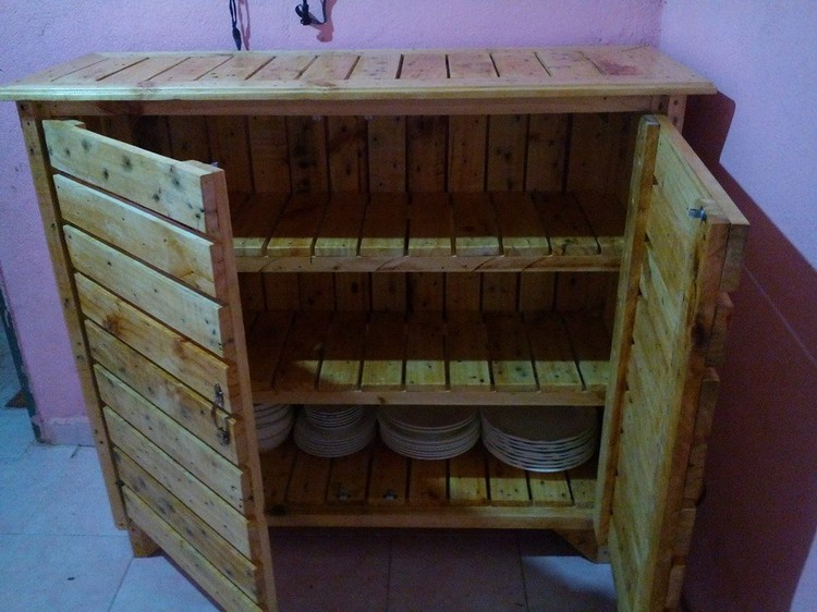 Georious Kitchen Cabinets Using Old Pallets Pallets Platform
