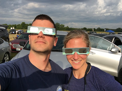 selfie with eclipse glasses