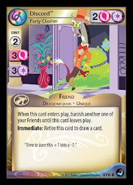 My Little Pony Discord, Party Clasher High Magic CCG Card