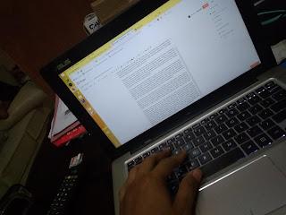 Menulis artikel di blog sendiri