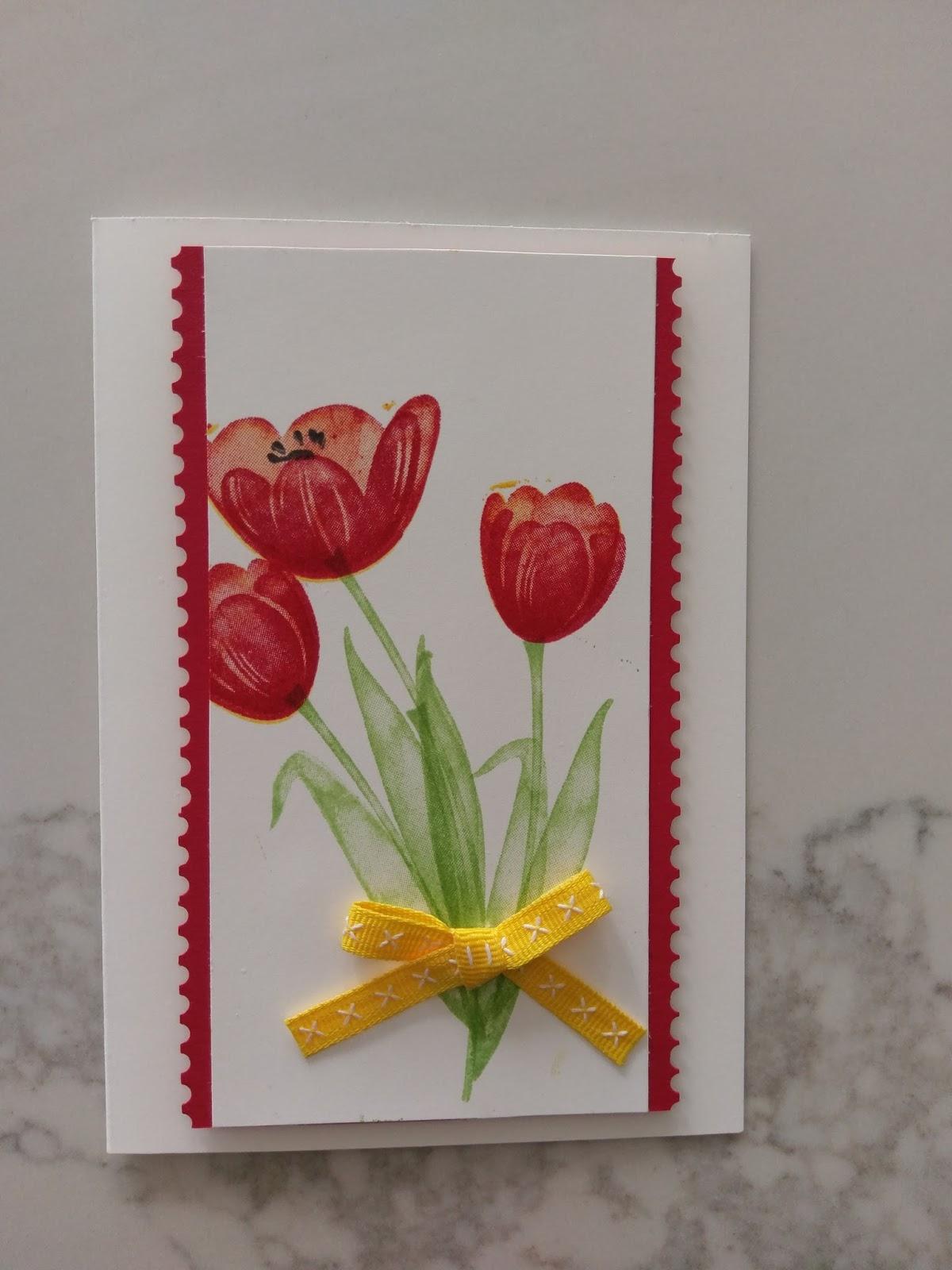 Тюльпаны в открытках своими руками, сердце открытку открытки