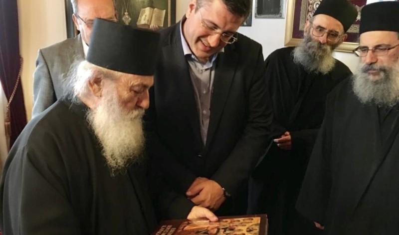 Επίσκεψη του Περιφερειάρχη Κεντρικής Μακεδονίας Απόστολου Τζιτζικώστα στο Άγιο Όρος