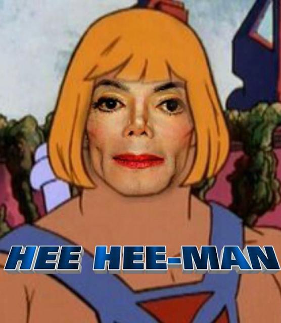 Funny Michael Jackson Hee-Hee Man Cartoon Meme Picture