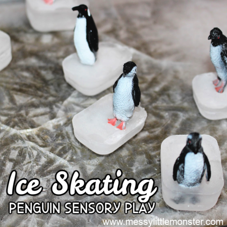 Ice Skating Penguin Small World - Sensory Play for Toddlers & Preschoolers