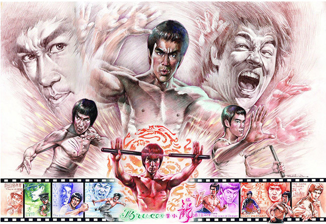 Shing On Tsui (Hong Kong/Canada) - Bruce Lee art collection @ YellowMenace